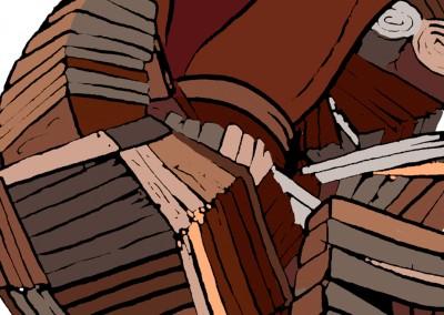 Sigo elaborando corazones de madera